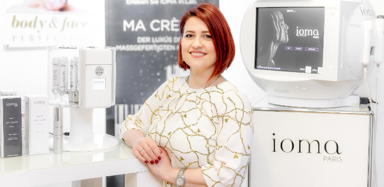 Hautanalyse, body and face Perfection Reutlingen. Ioma-Paris Hautpflege.